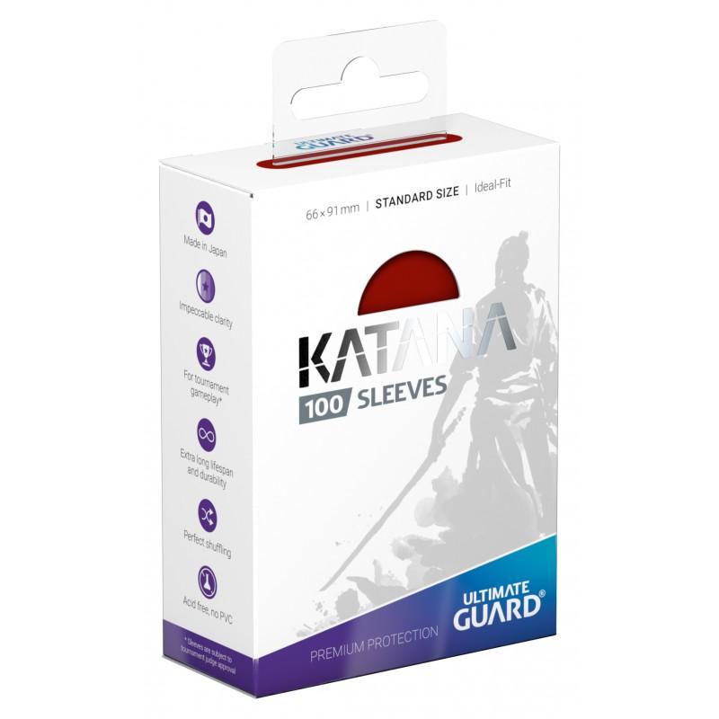 100 Ultimate Guard Katana Sleeves (Red)
