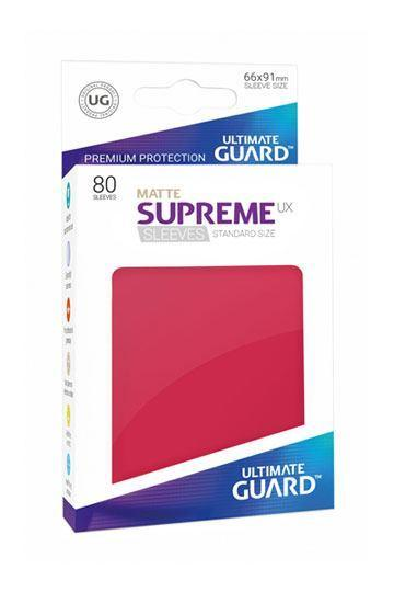 80 Ultimate Guard Supreme UX Matte Sleeves (Red)