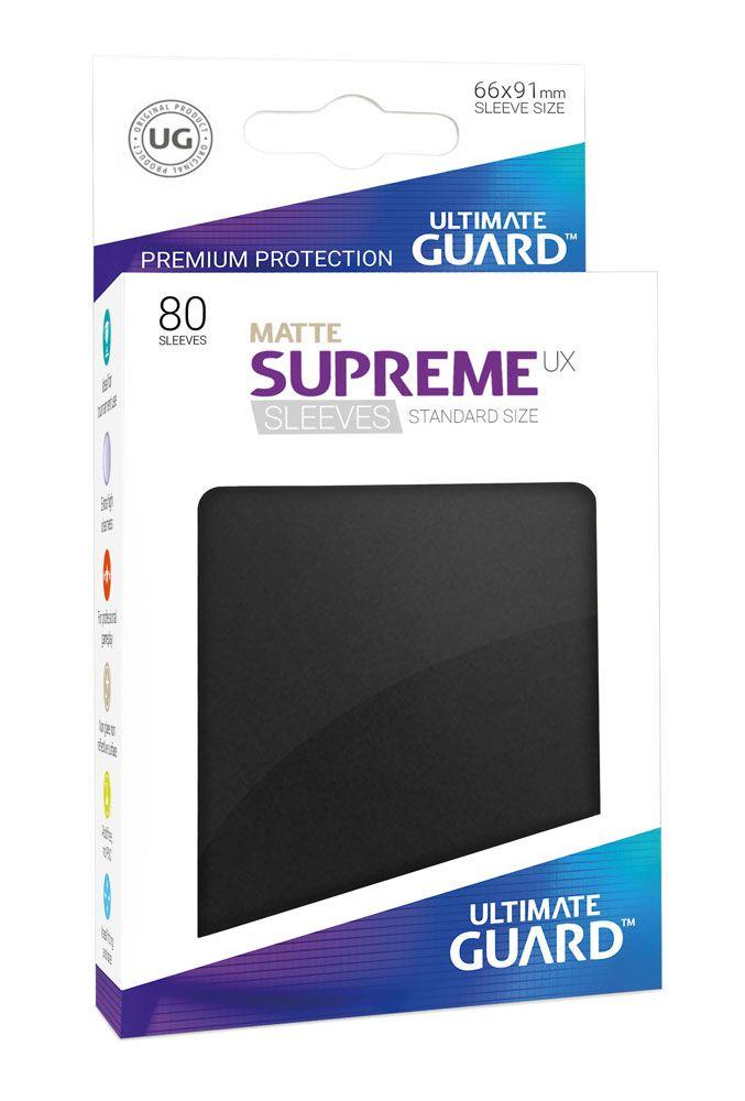 80 Ultimate Guard Supreme UX Matte Sleeves (Black)
