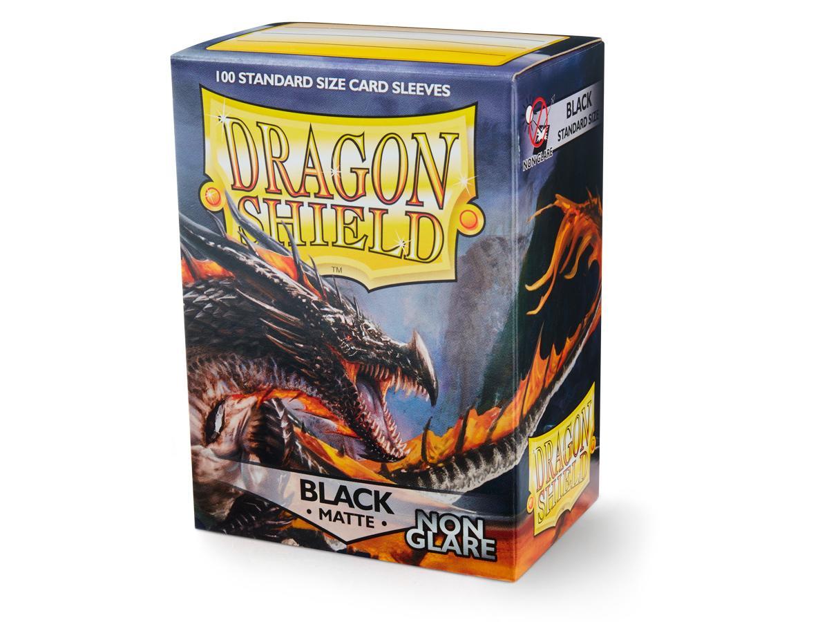 100 Dragon Shield Sleeves - Matte Black (Non-Glare)