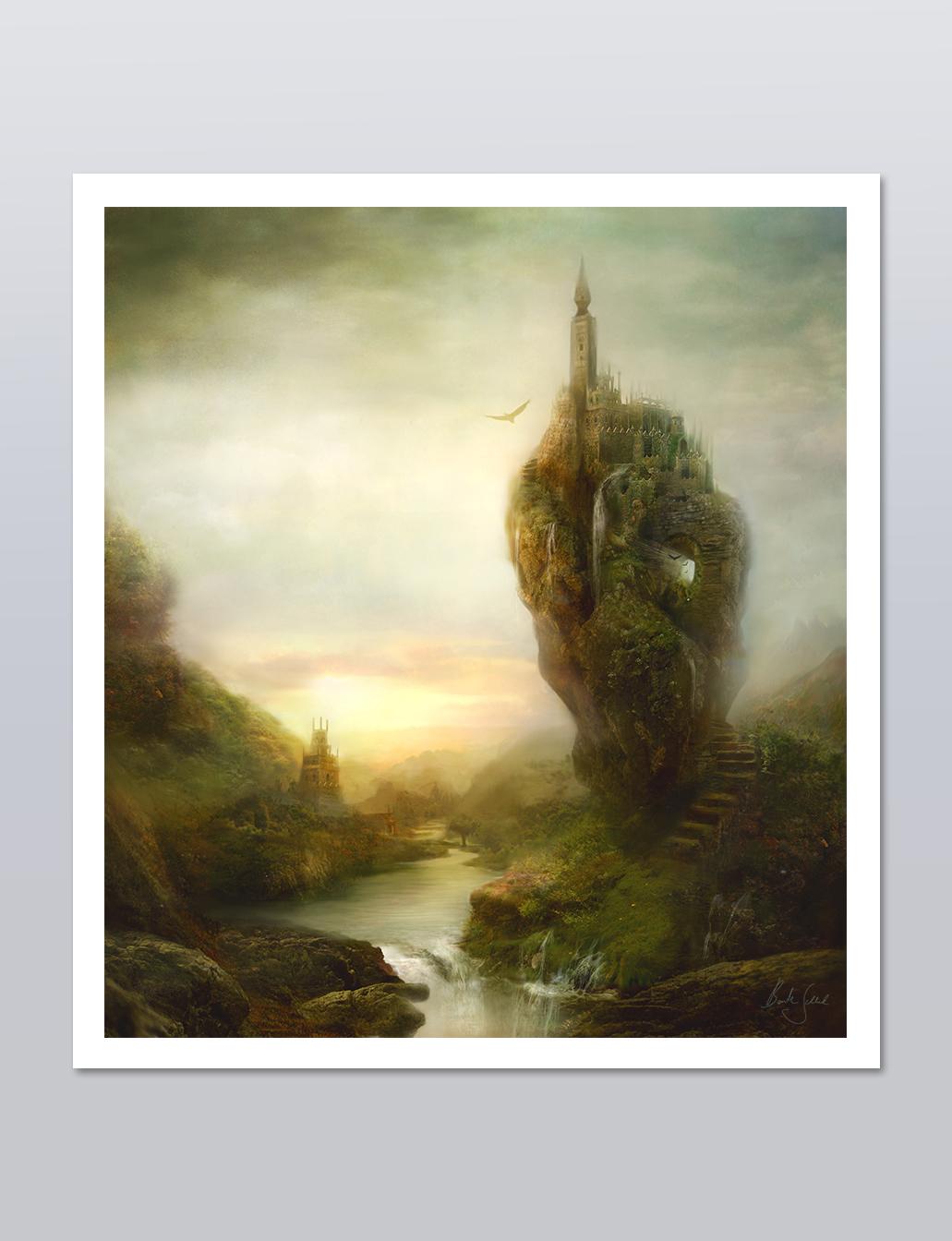 """Overthere"" | 36 x 40cm auf Hahnemühle Photo Rag"
