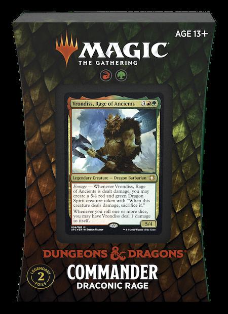 "Commander: Adventures in the Forgotten Realms: ""Draconic Rage"" Deck"