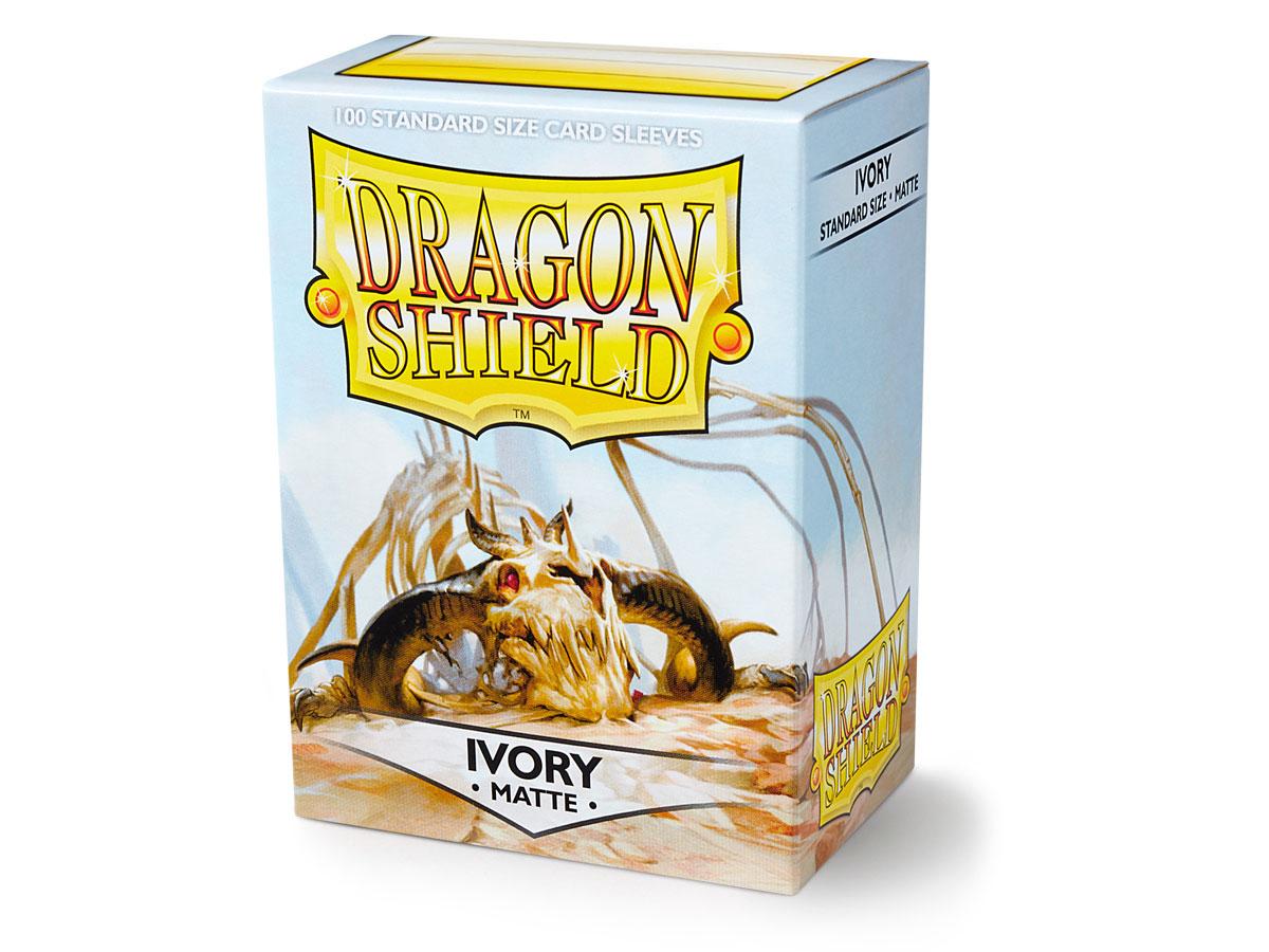 100 Dragon Shield Sleeves - Matte Ivory