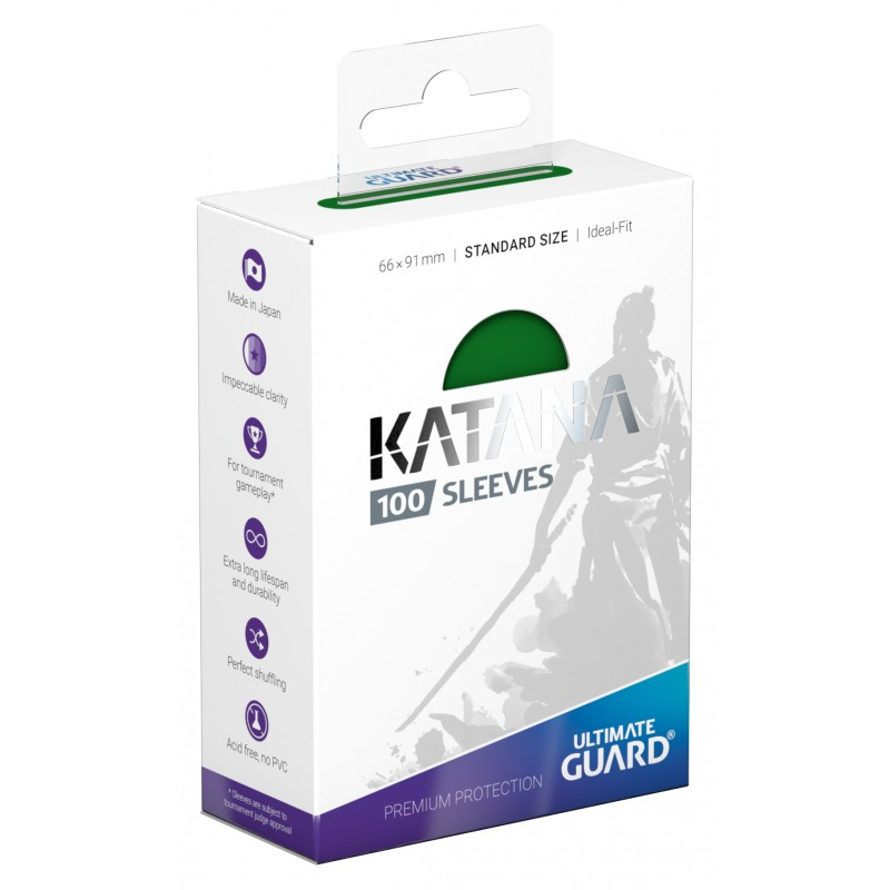 100 Ultimate Guard Katana Sleeves (Green)