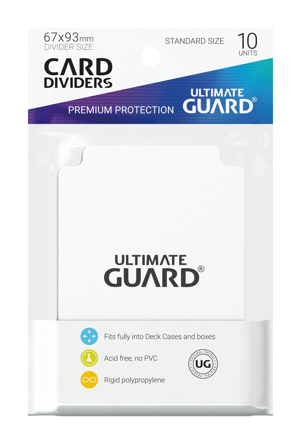 10 Ultimate Guard Dividers (White)