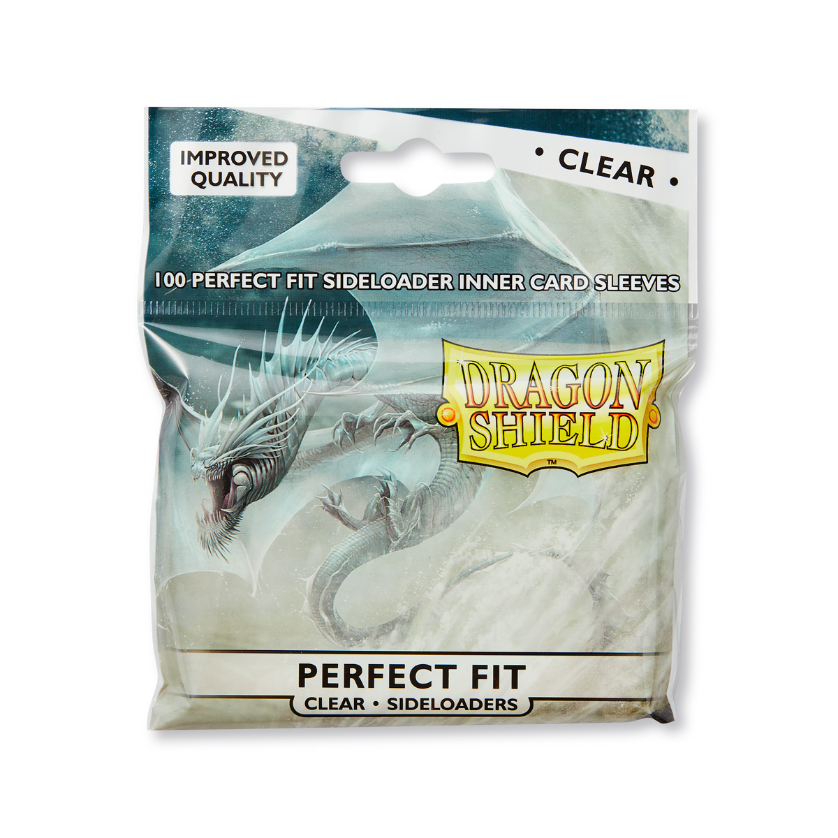 100 Dragon Shield Perfect Fit Sideloader Sleeves - Clear
