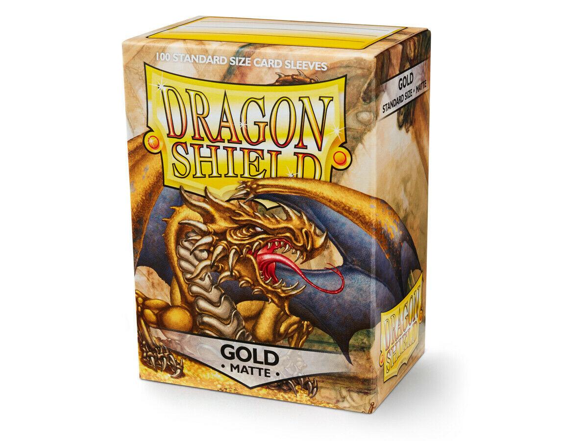 100 Dragon Shield Sleeves - Matte Gold