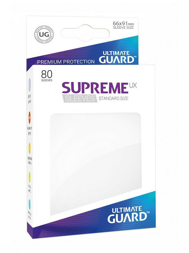 80 Ultimate Guard Supreme UX Sleeves (White)