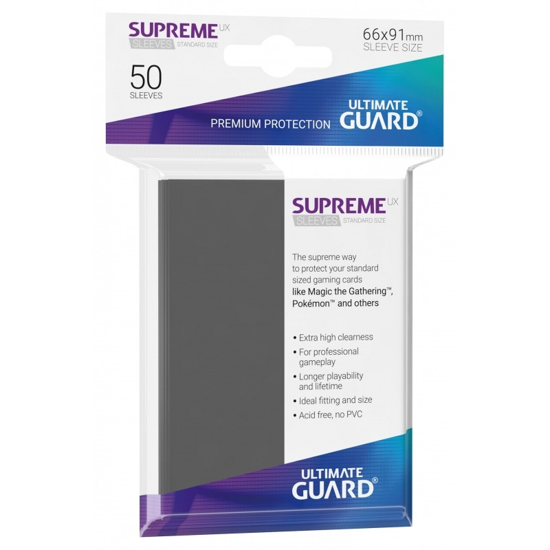 50 Ultimate Guard Supreme UX Sleeves (Dark Gray)