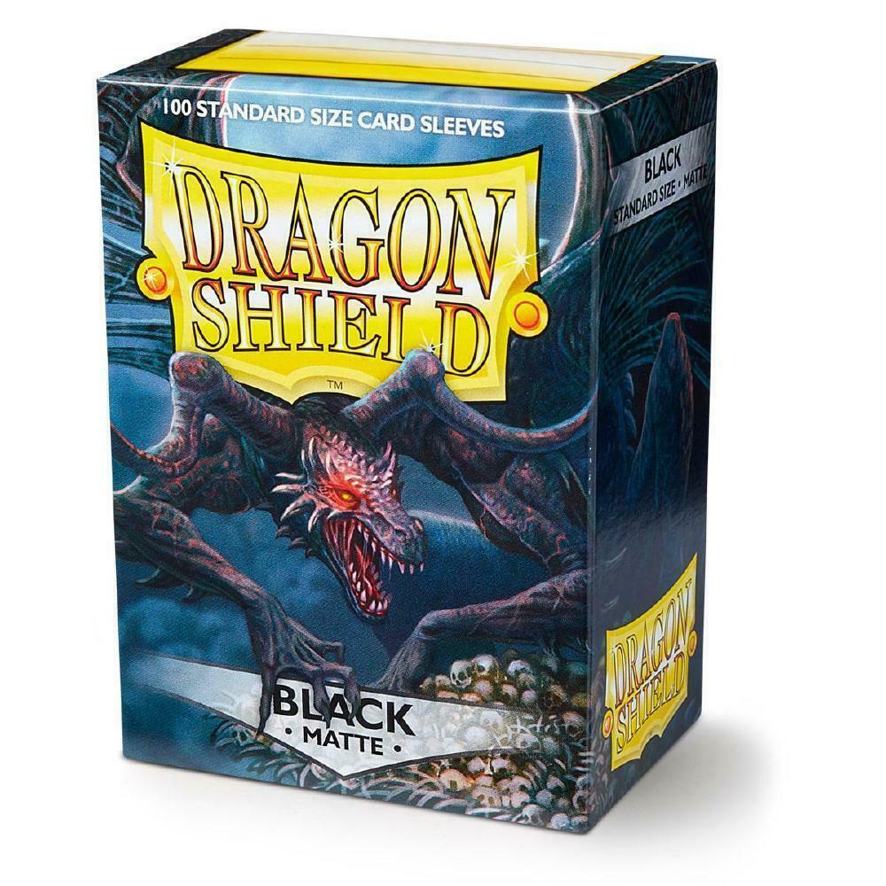 100 Dragon Shield Sleeves - Matte Black