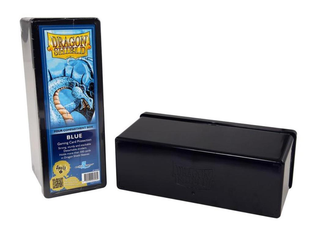 Dragon Shield: 4-Compartment Card Box (Blue)