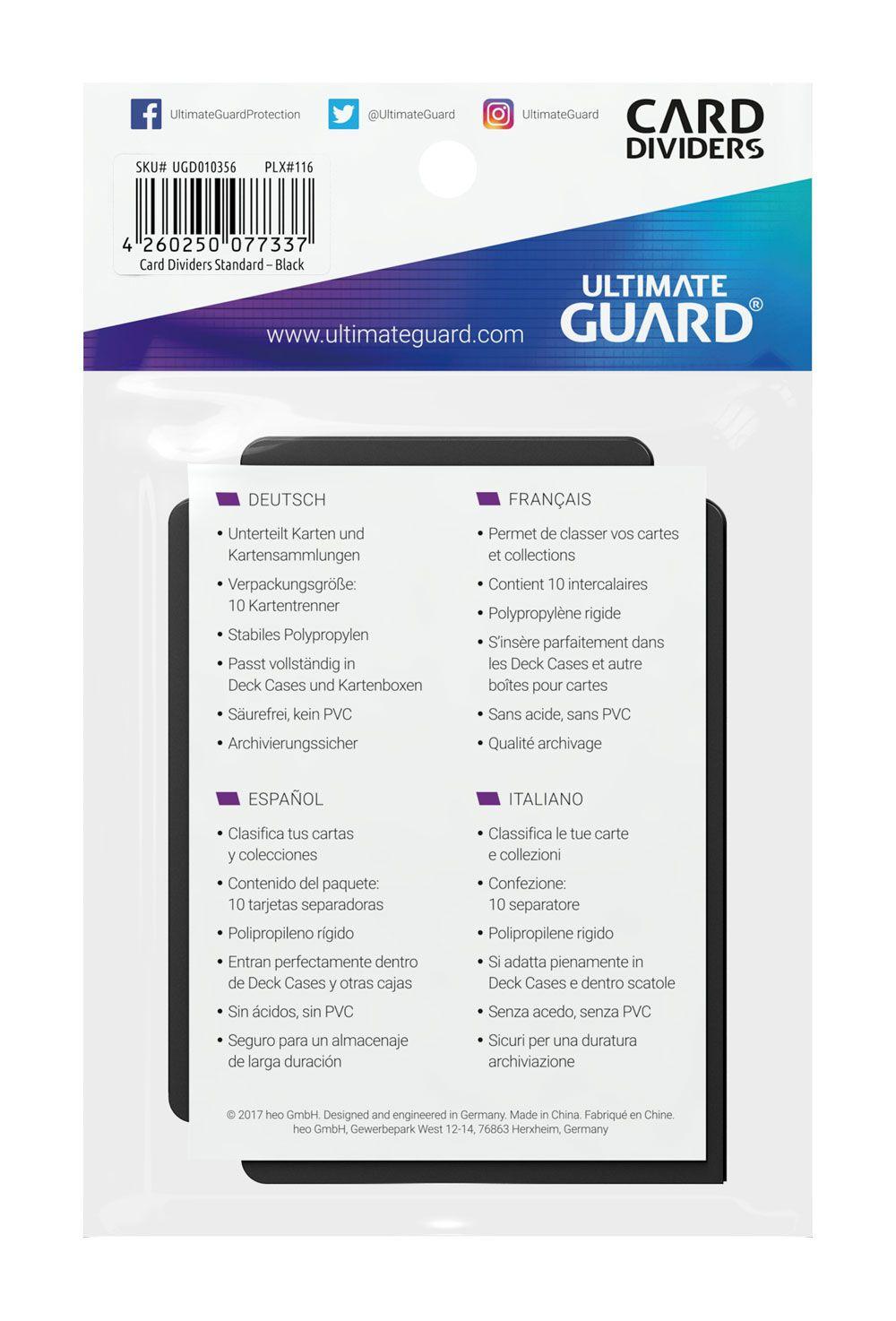 10 Ultimate Guard Dividers (Black)