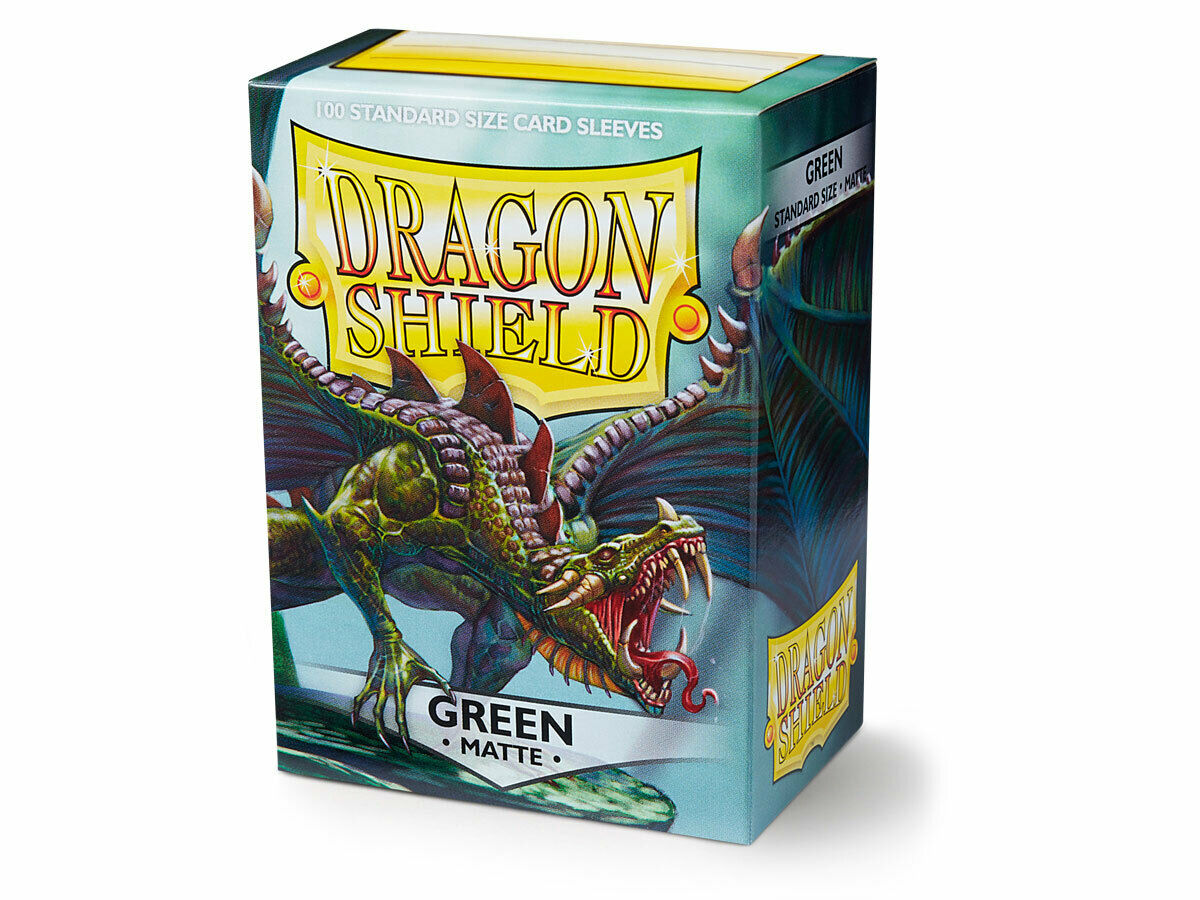100 Dragon Shield Sleeves - Matte Green