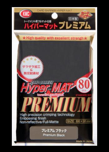 80 KMC Hyper mat Premium Sleeves (Black)