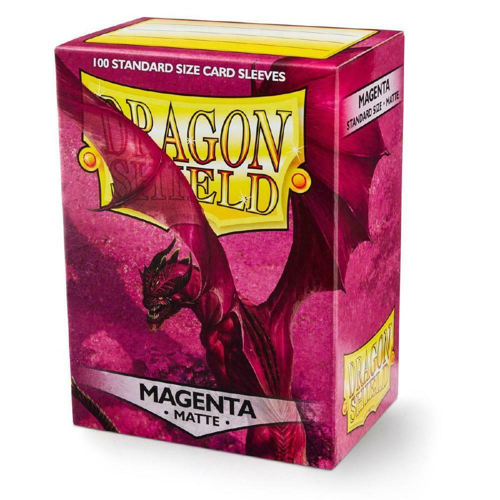 100 Dragon Shield Sleeves - Matte Magenta