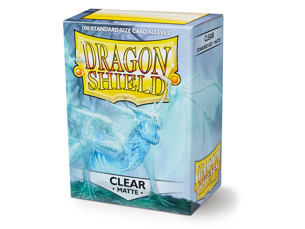 100 Dragon Shield Sleeves - Matte Clear