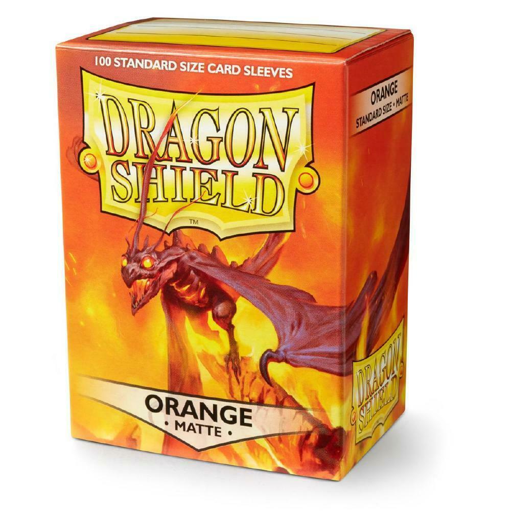 100 Dragon Shield Sleeves - Matte Orange