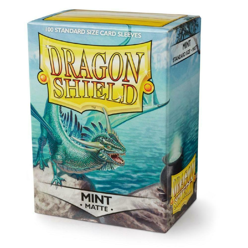 100 Dragon Shield Sleeves - Matte Mint