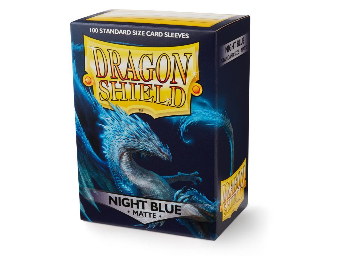 100 Dragon Shield Sleeves - Matte Night Blue