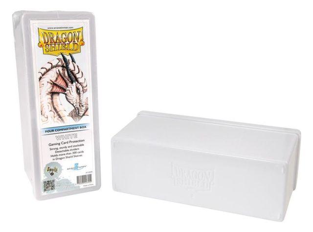 Dragon Shield: 4-Compartment Card Box (White)