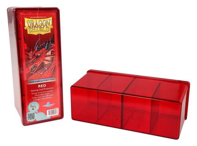 Dragon Shield: 4-Compartment Card Box (Red)