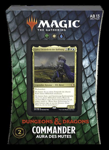 """Commander: Abenteuer in den Forgotten Realms: """"Aura des Mutes"""" Deck"""