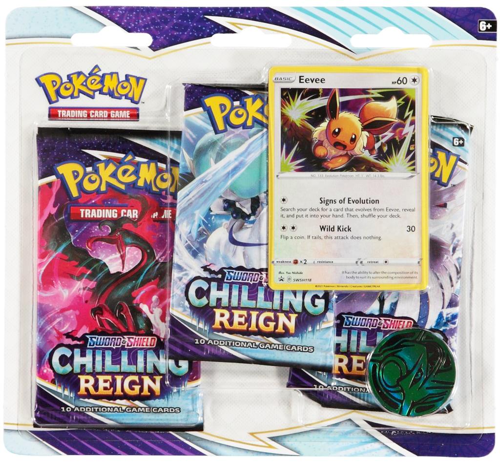 Pokemon Chilling Reign 3 Pack Blister Eevee