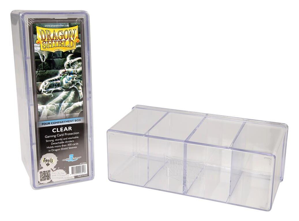 Dragon Shield: 4-Compartment Card Box (Translucent)