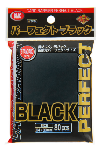 80 KMC Perfect Size Sleeves (Black)