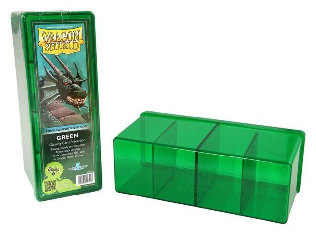 Dragon Shield: 4-Compartment Card Box (Green)