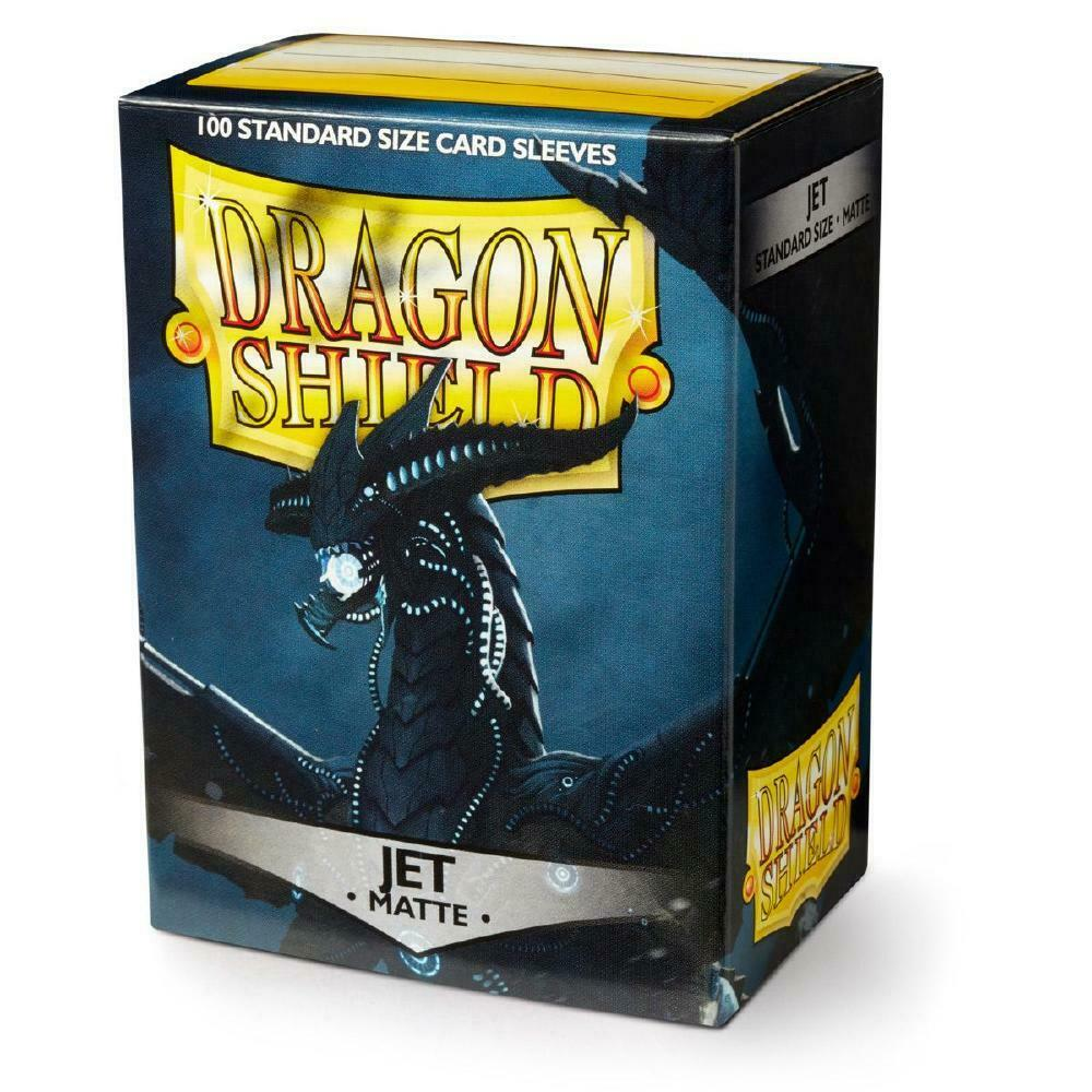 100 Dragon Shield Sleeves - Matte Jet