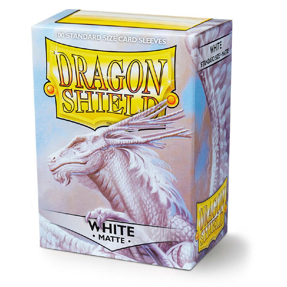 100 Dragon Shield Sleeves - Matte White