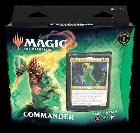 "Commander: Zendikar Rising: ""Land's Wrath"" Deck"