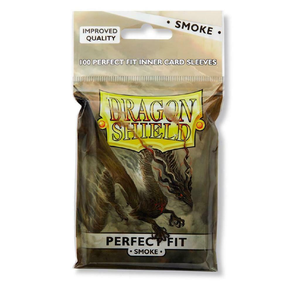 100 Dragon Shield Perfect Fit Sleeves - Smoke