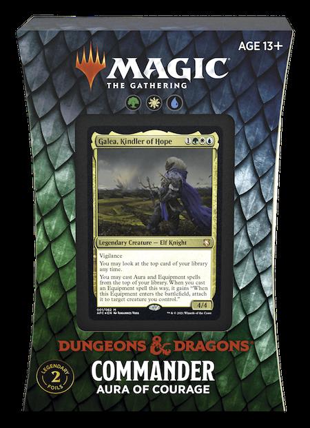 "Commander: Adventures in the Forgotten Realms: ""Aura of Courage"" Deck"