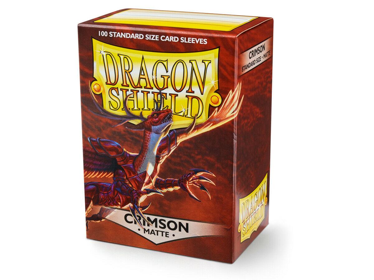 100 Dragon Shield Sleeves - Matte Crimson
