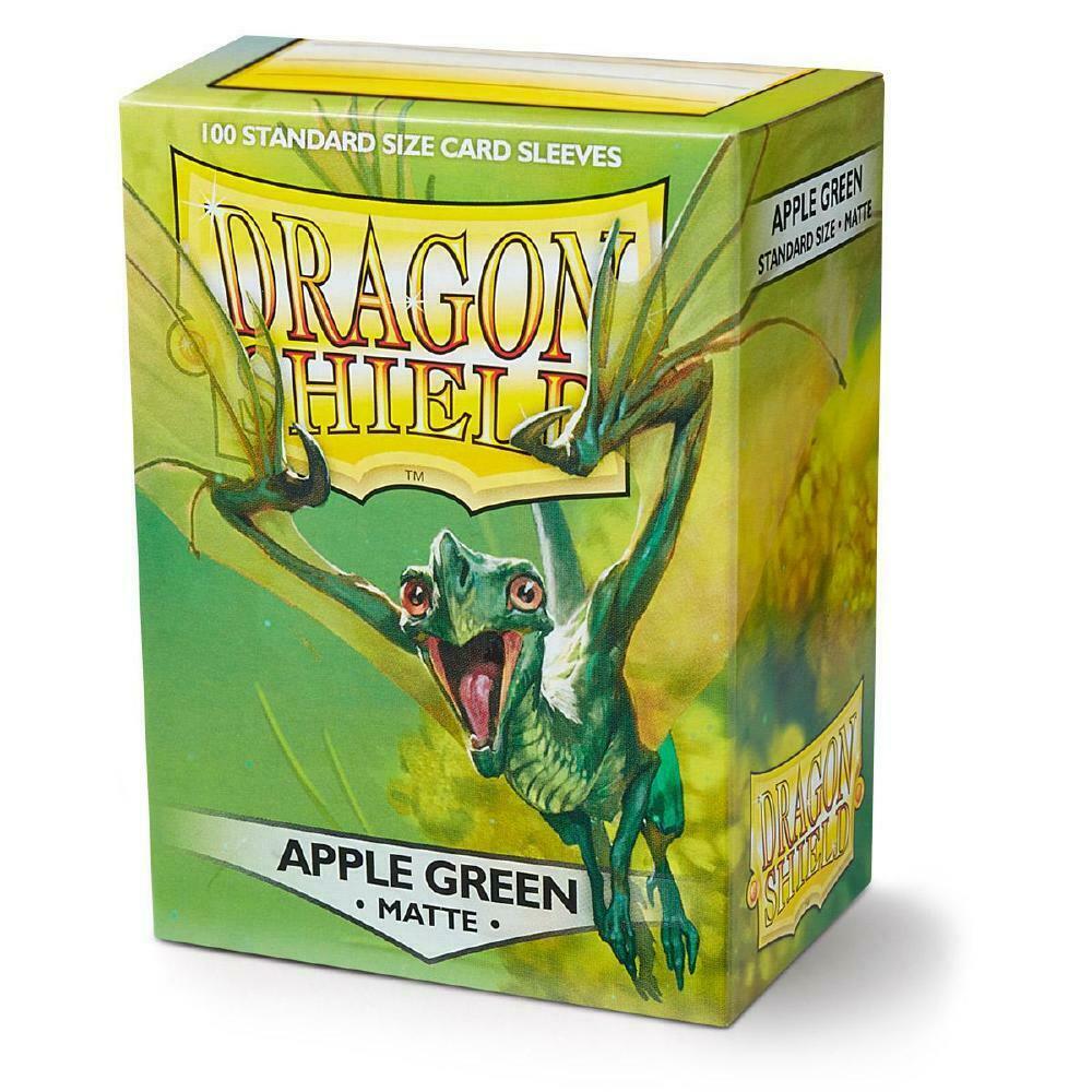 100 Dragon Shield Sleeves - Matte Apple Green