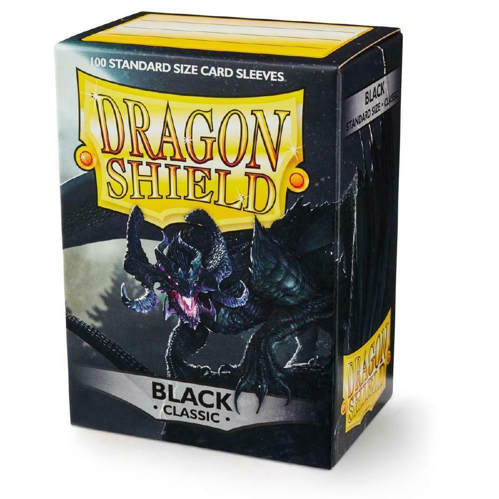 100 Dragon Shield Sleeves - Classic Black