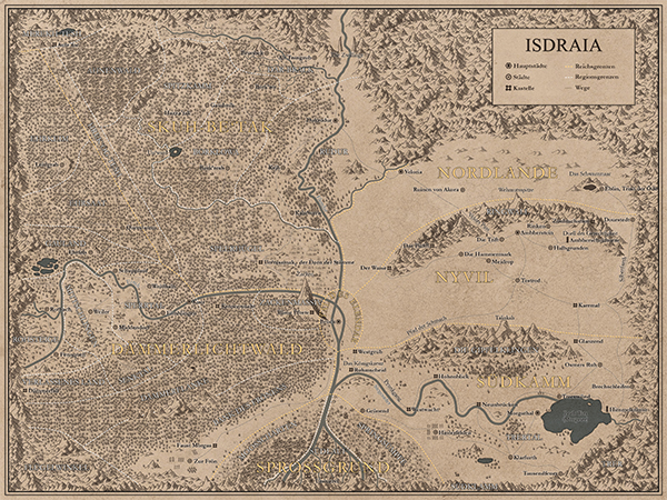 Isdraia Landkarte