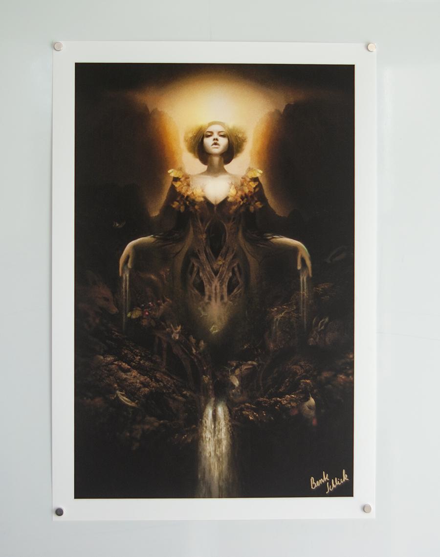 """Gaia"" | 30 x 44cm auf Lithografiepapier (handsigniert)"