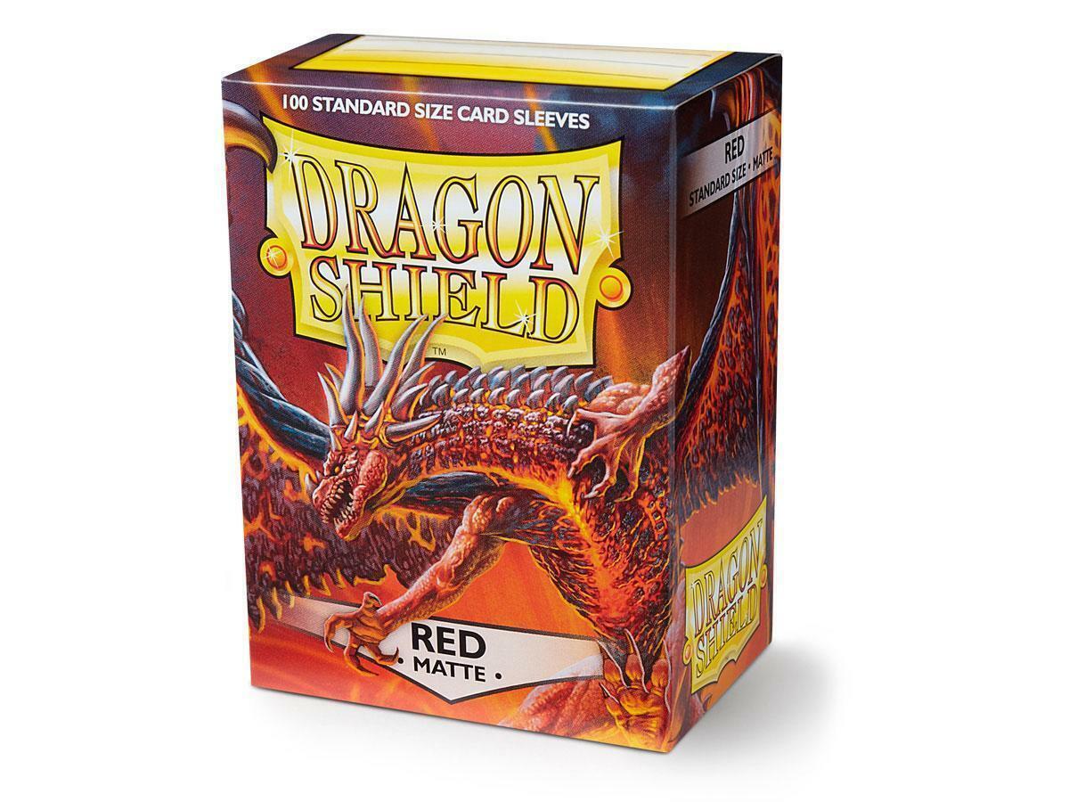 100 Dragon Shield Sleeves - Matte Red