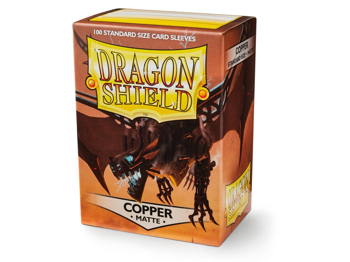 100 Dragon Shield Sleeves - Matte Copper