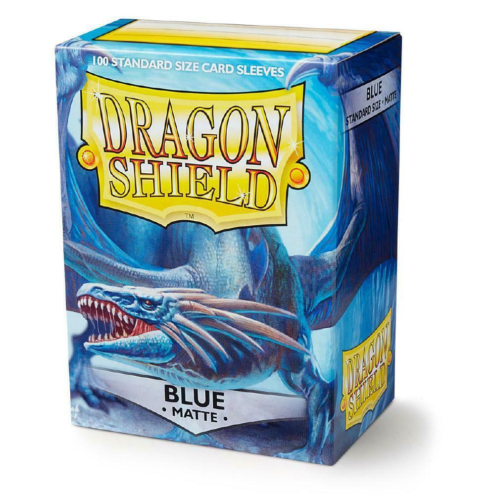 100 Dragon Shield Sleeves - Matte Blue