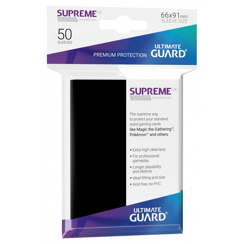 50 Ultimate Guard Supreme UX Sleeves (Black)