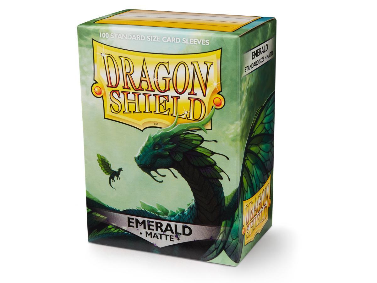 100 Dragon Shield Sleeves - Matte Emerald