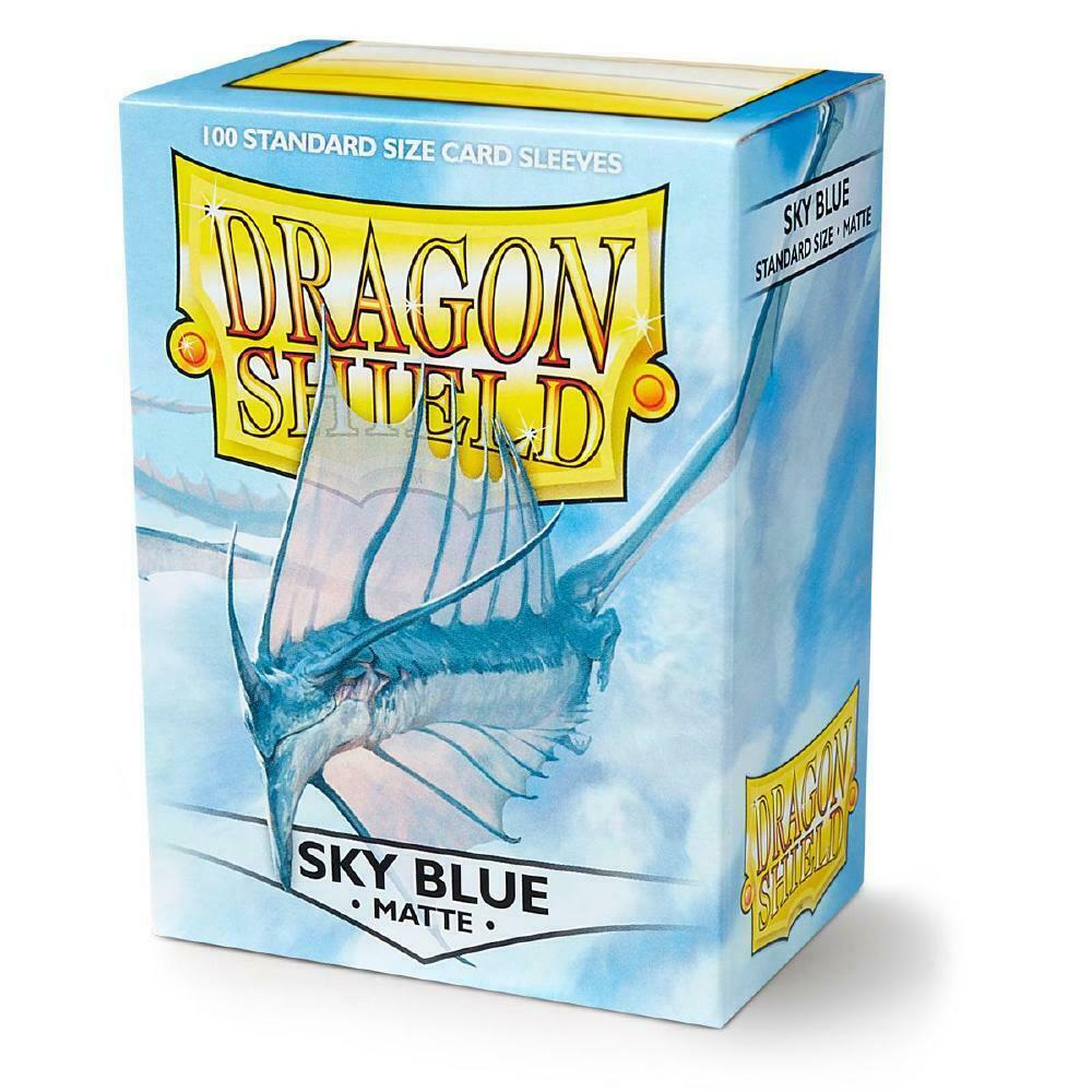100 Dragon Shield Sleeves - Matte Sky Blue