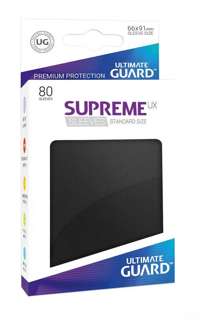 80 Ultimate Guard Supreme UX Sleeves (Black)